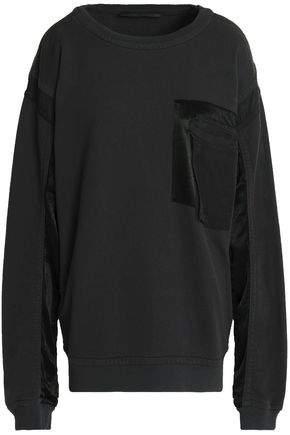 Oversized Twill-Paneled Cotton-Terry Sweatshirt