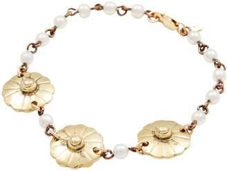 Vanessa Mooney Women's Moon & Stars Pearl Station Bracelet