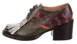 Dries Van Noten Embossed Lace-Up Oxfords w/ Tags