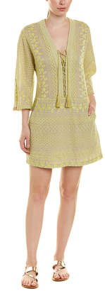 BCBGMAXAZRIA Embroidered Wool-Blend Shift Dress