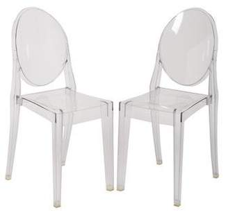 Kartell Pair of Victoria Ghost Chairs