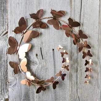 London Garden Trading Copper Butterfly Wall Art