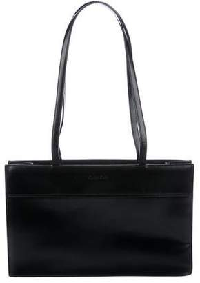 Calvin Klein Smooth Leather Shoulder Bag