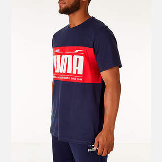 Puma Men's Graphic Logo Block T-Shirt