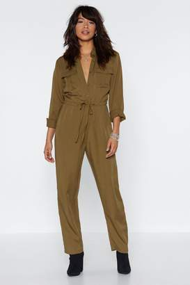 Nasty Gal Drawn Together Utility Jumpsuit