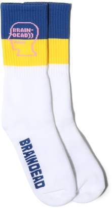 Brain Dead LOGO HEAD SOCKS
