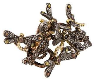 Sevan Biçakci Diamond Dragonfly Mobile Ring