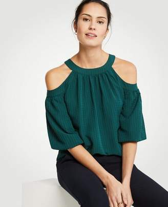 Ann Taylor Tall Cold Shoulder Tie Back Top
