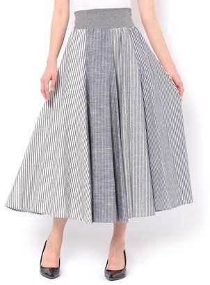 And Couture (アンド クチュール) - アンドクチュール 麻混ストライプロングスカート