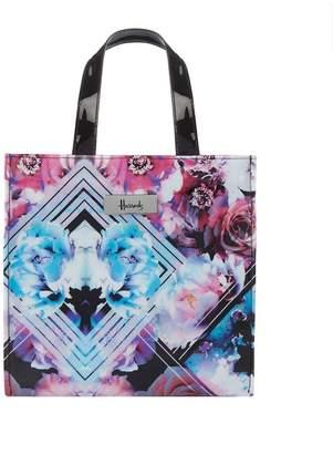 Harrods Small Geo Floral Shopper Bag