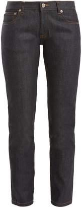 A.P.C. Etroit mid-rise slim-leg cropped jeans $155 thestylecure.com