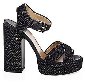 16c182ea5f38 Laurence Dacade Women s Rosange Velvet Platform Sandals