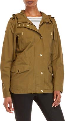 Love Tree Hooded Twill Jacket
