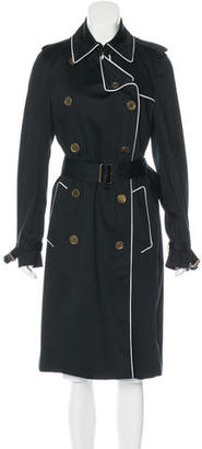 Burberry London Double-Breasted Trench Coat $595 thestylecure.com