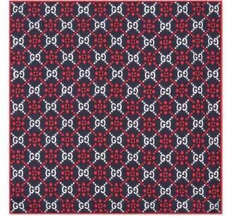 Gucci GG diamond silk pocket square