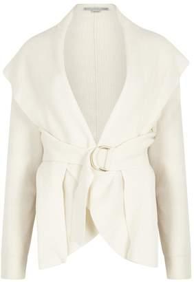 Stella McCartney Ivory Ribbed Wool Cardigan