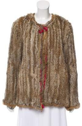 Antik Batik Embellished Fur Jacket