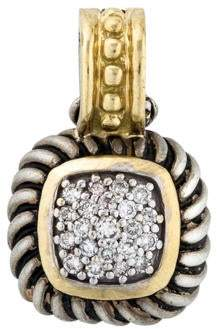 David Yurman Diamond Albion Pavé Enhancer Pendant
