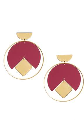 Isabel Marant Seriously Square in Circle Earrings