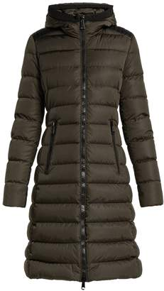 Moncler Taleve leather-panel quilted coat