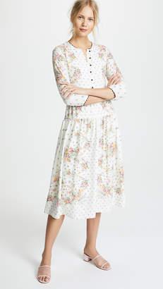 Vilshenko Alma Scarf Print Midi Dress
