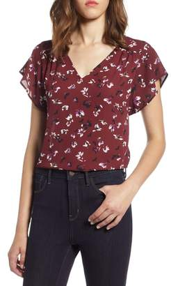 Halogen Flutter Sleeve Blouse