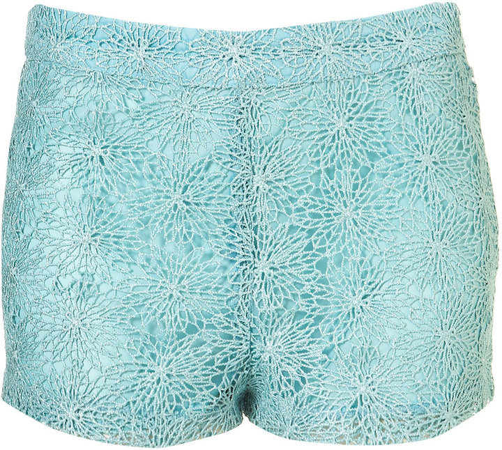 Metallic Crochet Shorts