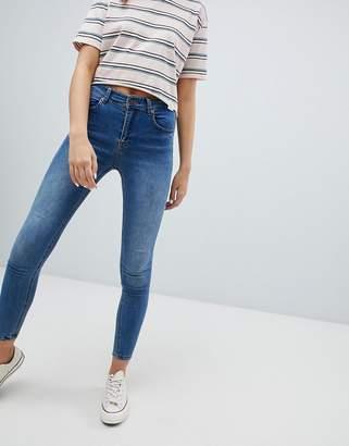 Pull&Bear recycled fibre skinny jean in medium blue