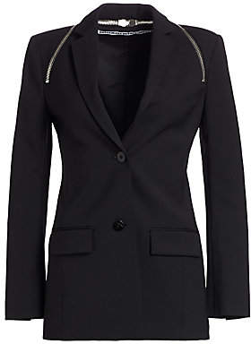 Alexander Wang Women's Zipper Trim Tailored Blazer - Size 0