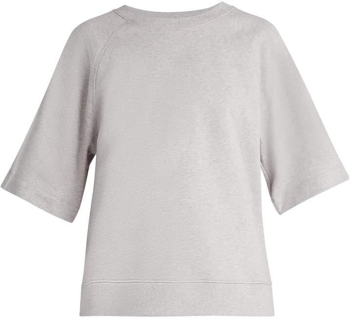 Easy short-sleeved cotton-jersey sweatshirt