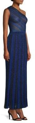 Missoni One-Shoulder Stripe Maxi Gown