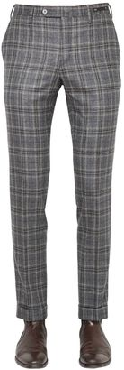 18cm Evo Fit Plaid Brushed Wool Pants $336 thestylecure.com