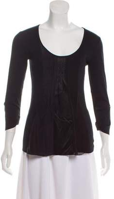 Brunello Cucinelli Silk-Accented Long Sleeve Top