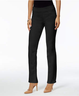 JM Collection Petite Pull-On Straight-Leg Pants, Created for Macy's