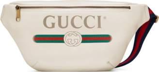 Gucci Print leather belt bag
