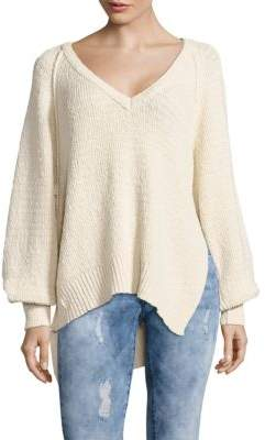 Free People Asymmetrical V-Neck Sweater