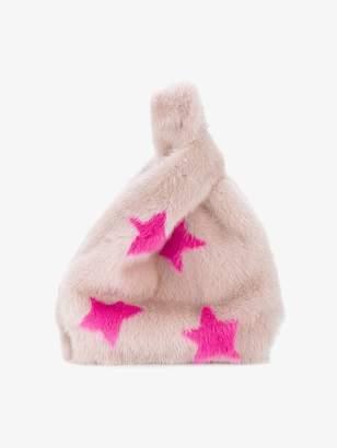 Simonetta Pink Furrissima star fur bag