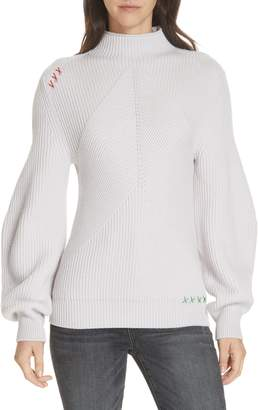 Carven Puff Sleeve Merino Wool Sweater