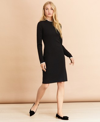 Brooks Brothers Scalloped-Edge Sweater Dress