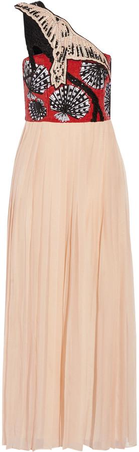 Emilio PucciEmilio Pucci One-shoulder sequined silk-blend chiffon gown