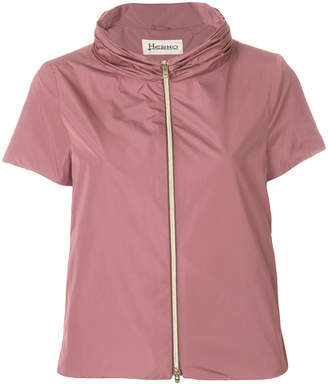 Herno short-sleeve fitted jacket