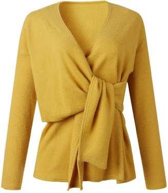 Goodnight Macaroon 'Jane' Tied Front Knitted Wrap Top (3 Colors)