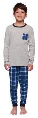 Dex Boy's Plaid Two-Piece Pajama Set
