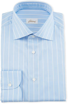 Brioni Men's Reverse Stripe Dress Shirt