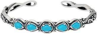 Carolyn Pollack Sterling Silver Simply Fabulous Gemstone Cuff