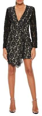 Missguided Sheath Lace Wrap Blazer Dress