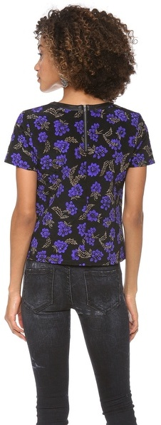 Patterson J. Kincaid Pjk Bloom Quilted Tee