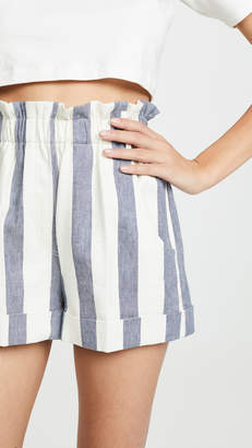Nude Striped Shorts