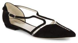 Suede Cut-Out Flats