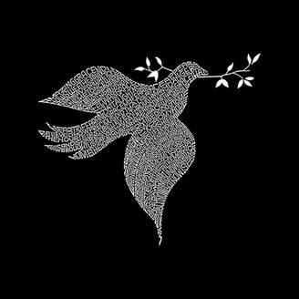 LOS ANGELES POP ART Los Angeles Pop Art Women's Raglan Word Art T-shirt - Dove